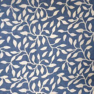 Indigo Hand Print Cotton Scarf