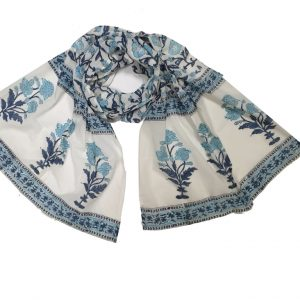Hand Block Print Cotton Scarf