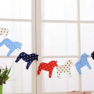 Dala Horse Garland  – Handcrafted Bunting Banner