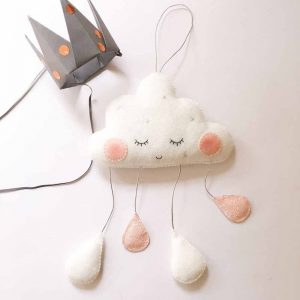 Hanging White Clouds With Droplets – Handcrafted