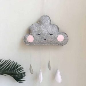 Hanging Grey Clouds With Droplets – Handcrafted