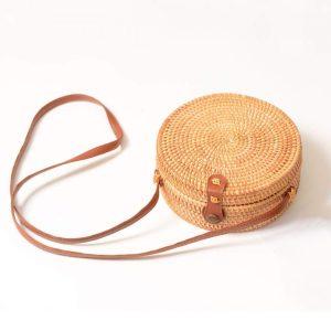 Boho Eco Bamboo Round Bag