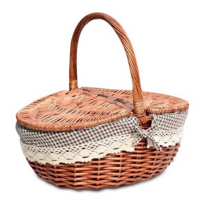 Wicker-Picnic-Basket-With-Lid-and-Handle-Food-Bread-Picnic-Basket-Hamper-Woven-Bamboo-Fruit-Storage