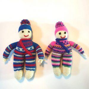 Hand Knitted Jack & Jill