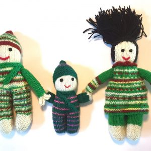 Hand Knitted Doll Family