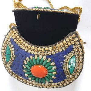 Handcrafted Stone Mosaic Clutches/ Purse