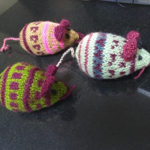 Hand Knitted Mice 2