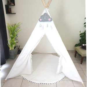 White Dove Teepee with Mat