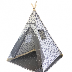 Grey Star Teepee With Mat