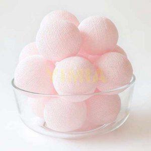 LED Cotton Thread Decoration Lights – Pink