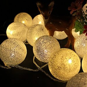 LED Cotton Thread Decoration Lights Set – Yellow