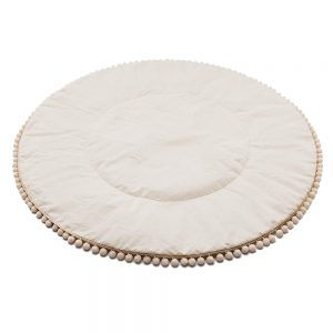 Round Cotton Pompom Mat Pink